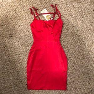 Oh Polly Dresses - Oh Polly Satin Run The Show Hailey Baldwin dress